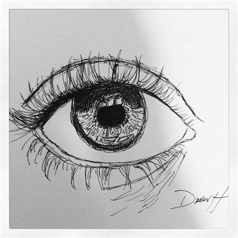 Sketches With Pen by Ink Pen Sketch Eye Pen Sketch