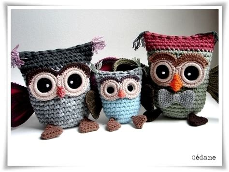 Top Zipper Owl Berkualitas owl family put a zipper on top to make a bag crochet animals bags rugs