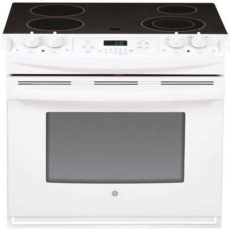 30 drop in ge appliances jd630dfww 30 quot drop in electric range white