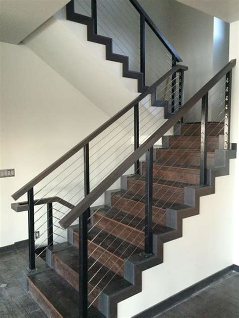 Aluminum Stair Railings Interior by 38 Edgy Cable Railing Ideas For Indoors And Outdoors