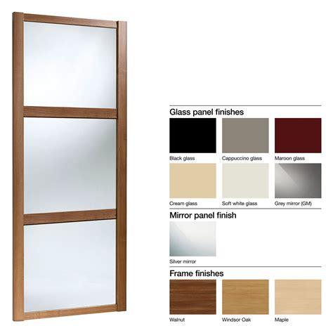 Wardrobe Doors B Q by Made To Measure Shaker 3 Panel Glass Mirror Sliding