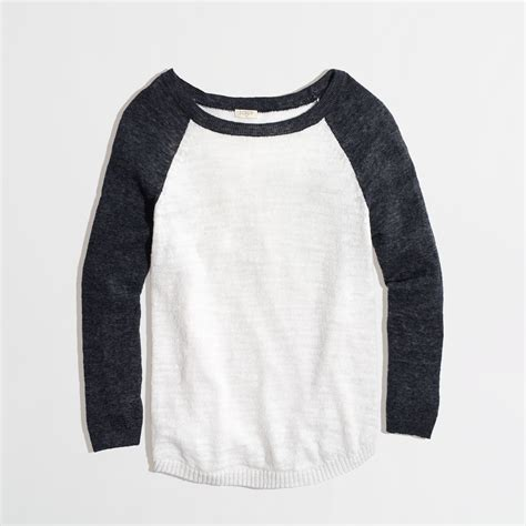 Sweater Baseball J Crew Factory Airspun Baseball Sweater In Colorblock In