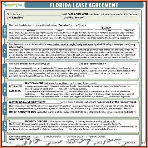 9 Residential Lease Agreement Florida Pdf Purchase Agreement Group Florida Month To Month Lease Agreement Template