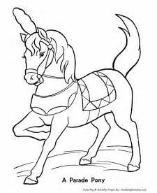 Circus Parade Pony Coloring Pages  Printable Performing sketch template