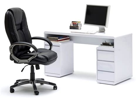 Merveilleux Ikea Meuble Laque Blanc #6: bureau-design-blanc-laque-avec-2-tiroirs-larky.jpg
