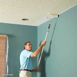 how to paint a bathroom ceiling how to paint a ceiling the family handyman