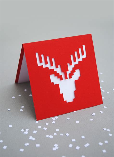 Reindeer Pop Up Card Template by Pixel Popup Cards Minieco