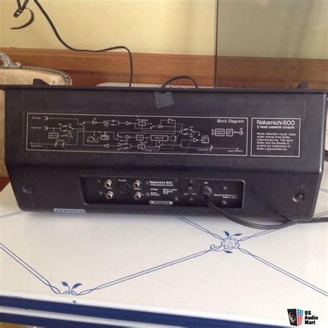 nakamichi 600 cassette deck nakamichi 600 cassette deck photo 935329 us audio mart