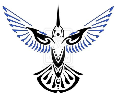 hummingbird tribal tattoo blue winged hummingbird by finaira on deviantart