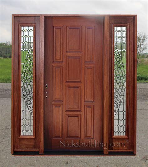 Door With Sidelights by Exterior Doors With Sidelights Solid Mahogany Entry Doors
