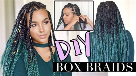 diy poetic justice box braids natural hair rules box braids diy styles diy box braids like a pro low