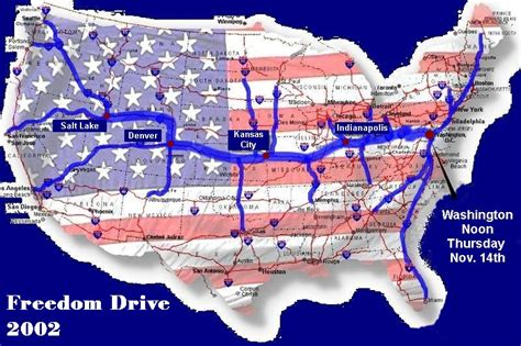 route map usa freedom drive route map usa