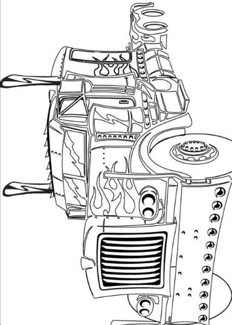 transformer truck coloring page transformers coloring books pictures of truck optimus