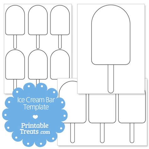 popsicle template printable bar shape template printable treats