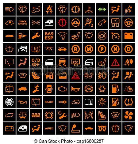 iconos del auto