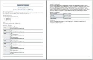 course design template template design