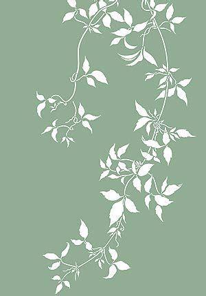 leaf pattern vine large trailing leaves stencil clematis vines stenseling