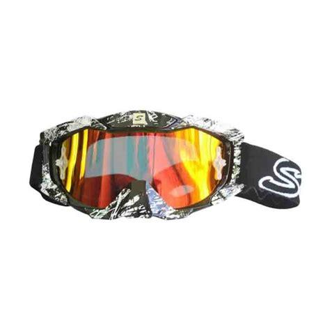 Larisa Store Kacamata Motor Hitam jual snail mx36 kaca pelangi kacamata cross hitam putih