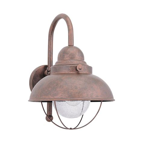 Outdoor Copper Wall Lights Outdoor Wall Light With Clear Glass In Weathered Copper Finish 8871 44 Destination Lighting