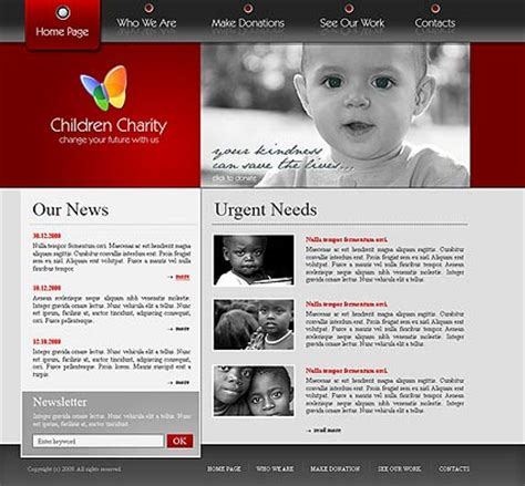 Charity Website Template Best Website Templates Best Charity Website Templates