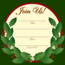 free printable party invitations holly and mistletoe