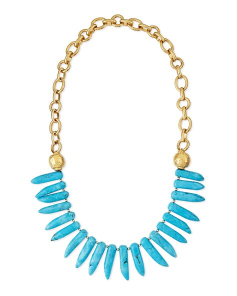 spike for jewelry lyst leigh turquoise spike necklace in blue