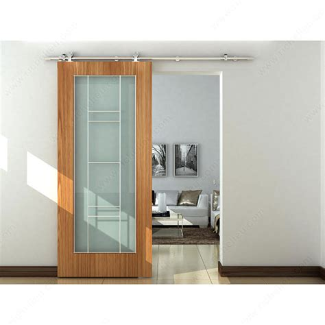 Interior Sliding Door Systems The Industrial Barn Door Sliding Style Kit With 2 0 M Track Richelieu Hardware
