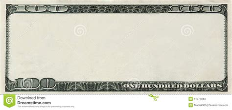 bank note template blank 100 dollars bank note with copyspace stock