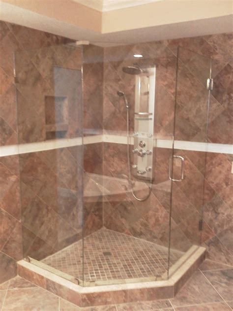 Bathroom Glass Tile Designs by Looking Glass Company Frameless Shower Enclosures