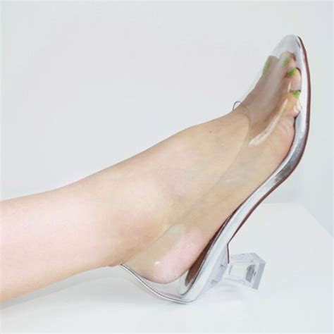 womens glass slippers new princess cinderella clear glass slippers