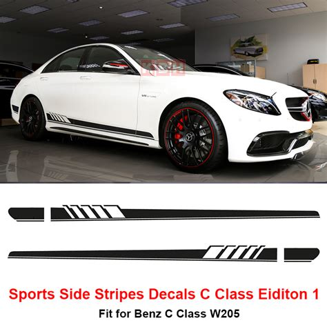 Racing Sticker Placement by Edition 1 Style Side Stripes Sticker For Mercedes
