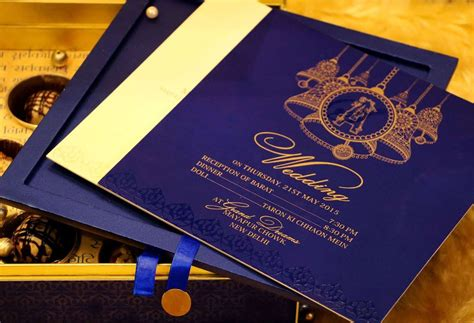unique wedding cards bangalore blue bell wedding card designer invitation card by vwi new delhi invitationcard newdelhi