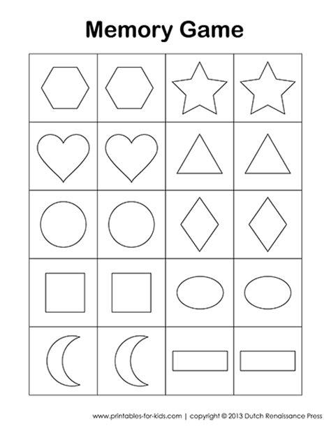 printable memory card games for preschoolers printable memory game for kids printables for kids