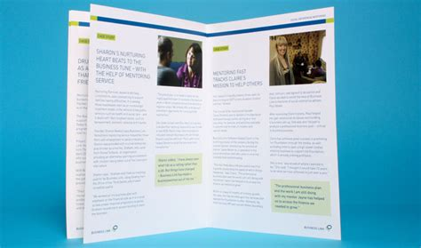 leaflet design bradford business link our work dulay seymour creative