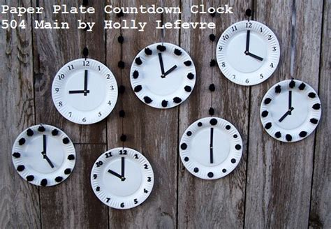 How To Make Clock With Paper Plate - 504 by lefevre countdown to the new year