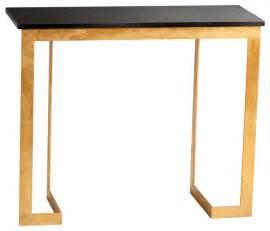 cyan design dante console table in gold black finish