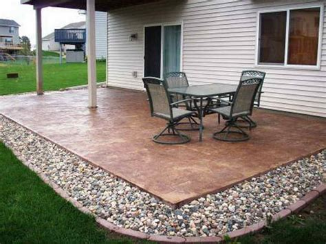 outdoor simple patio design ideas with regular simple