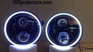 Halo Led Lights 7 Quot Jeep Wrangler Halo Jw Speaker Headlights From
