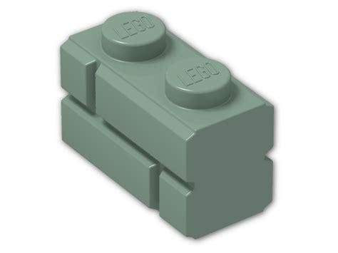 Lego Brick With Embossed Bricks 98283 brick 1 x 2 with embossed bricks 98283 sand green
