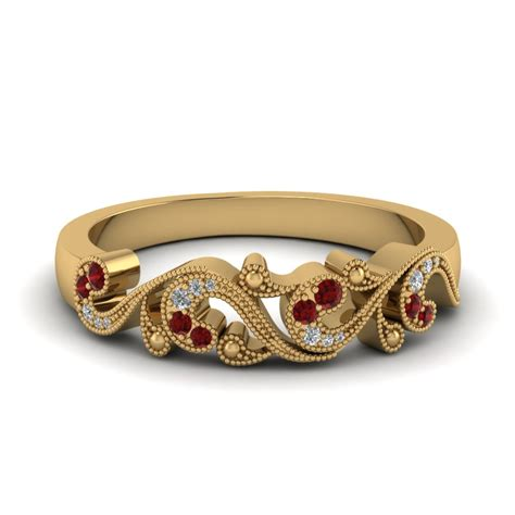 Wedding Bands For by Save Big On Ruby Wedding Bands For Fascinating Diamonds