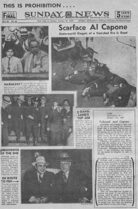 al capone s wars a complete history of organized crime in chicago during prohibition books conviction of al capone newspaper articles