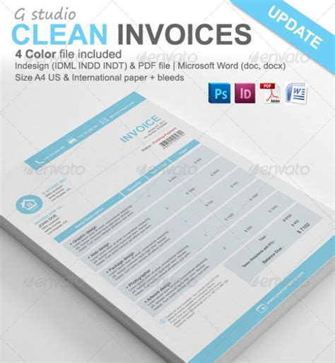 invoice template psd invoice exle