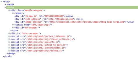 div html code django templates included file outside of div even