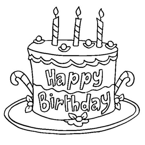 happy birthday coloring pages cake coloring pages