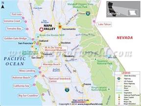 napa valley california map facts location best time