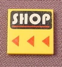 Set Part 2x2 Yellow lego 3068bpx29 yellow 2x2 tile with shop pattern 3408 parts with patterns rons rescued