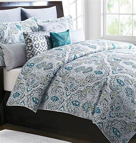 King Paisley Duvet Cover Tahari Home 3pc Full Queen Duvet Cover Set Large Medallion