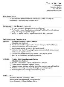 Sample Resume Template resume sample for an administrative assistant susan ireland resumes