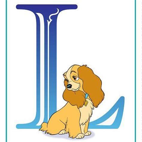 Disney Character Letter L Disney Alphabet Printables