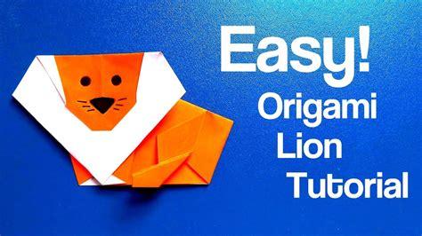 tutorial origami lion origami lion easy tutorial youtube